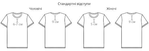 відступи друку на футболках