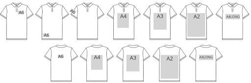 біла сорочка поло і формати нанесення прямого цифрового друку