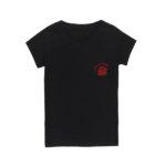 прямая цифровая печать на черной футболке