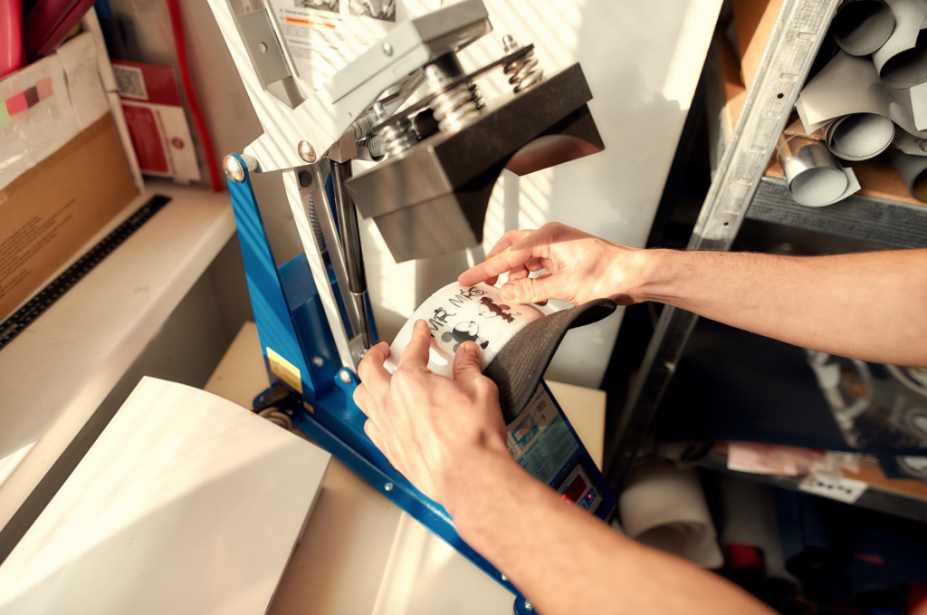 технологія термопереносу на тканину під термопресом