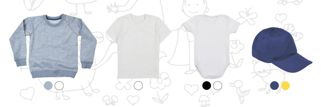 прямая цифровая печать на детской одежде