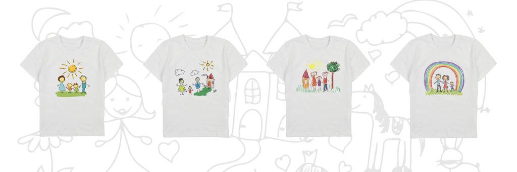 прямий цифровий друк на дитячій футболці