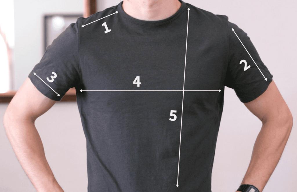 замеры футболок