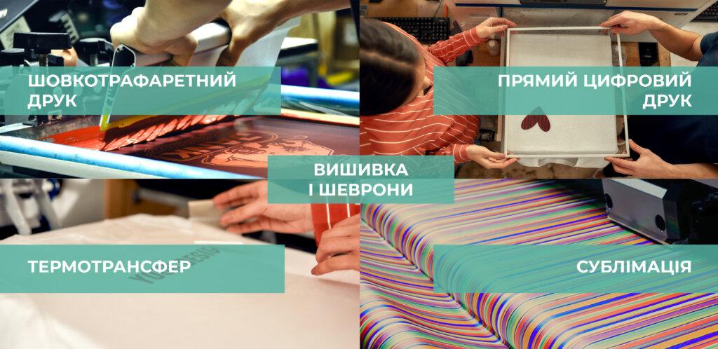 виды печати на одежде